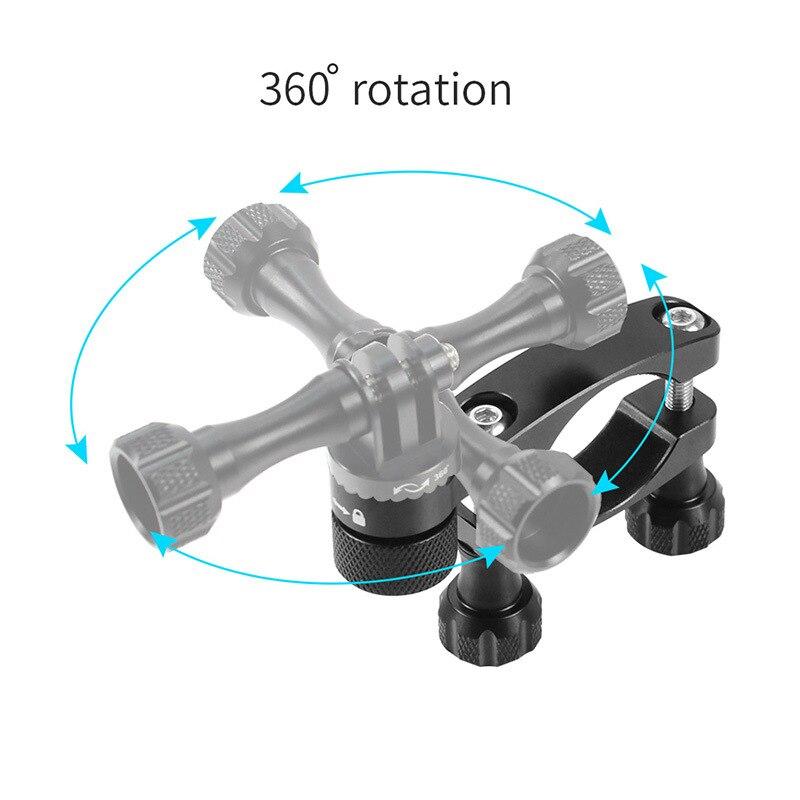 Aluminum Bicycle clamp 360 Degree Rotation Bike Handlebar Adapter Mount & Screw For GoPro Hero 7 6 5 DJI OSMO Action Camera (13)