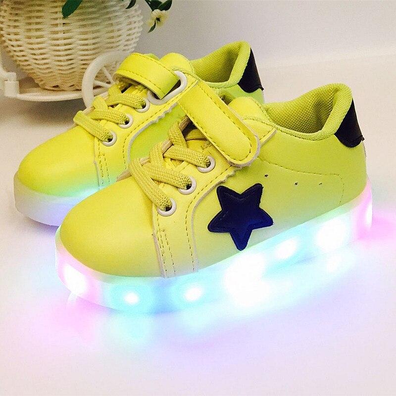 2019 1 do 6 lat dzieci LED lekkie buty baby boy i dziewczyna