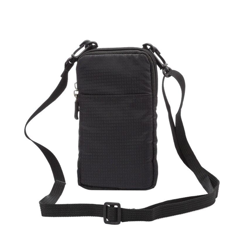 YIANG New Nylon Carteira Saco Do Telefone Móvel Universal 6.0 polegada Mini corpo Cruz Sacos de Ombro Bolsa Portátil Caso para iPhone/Samsung