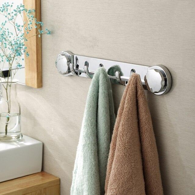 Multi Function Sucker Hook Chromed Suction Kitchen Towel Hook Bathroom  Accessories Super Wall Hook Kitchen