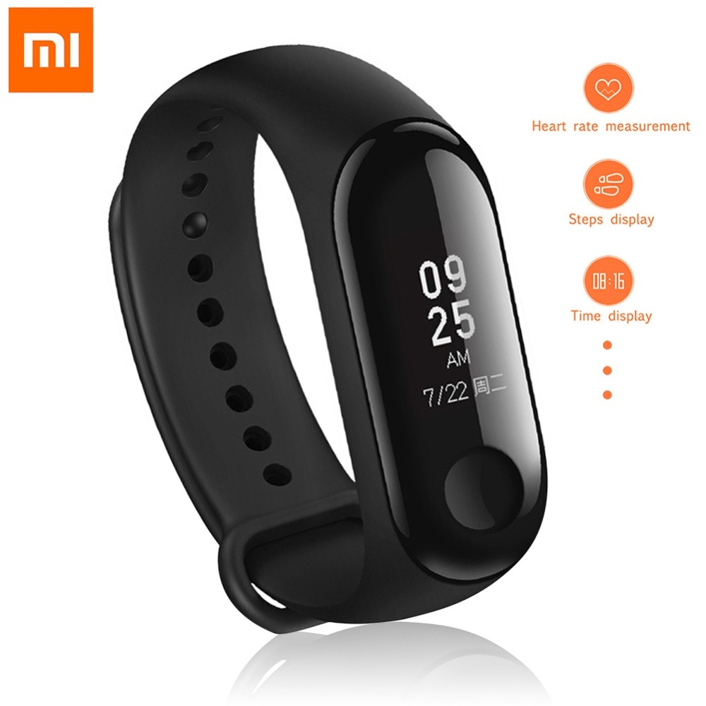 English Version! Xiaomi Mi Band 3 Smart Bracelet 0.78 inch OLED Instant Message Caller ID Weather Forecate MiBand 3 Smart band
