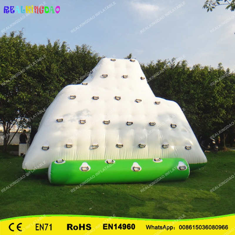 REALKINGDAO 5m*4m*4m Float Unicorn Water Park Inflatable Water Island,Inflatable Iceberg For Funny Games Inflatable Ice Tower funny summer inflatable water games inflatable bounce water slide with stairs and blowers