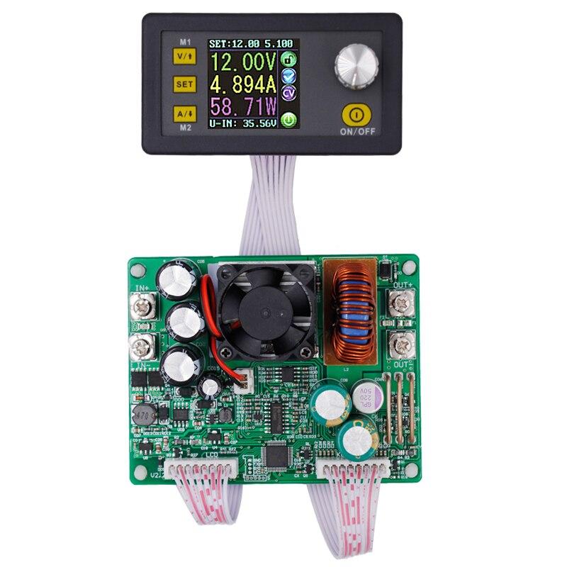 DPS5015 Питание понижающий Напряжение преобразователь постоянного Напряжение ток Шаг вниз программируемый ЖК-дисплей вольтметр 15A скидка 12%