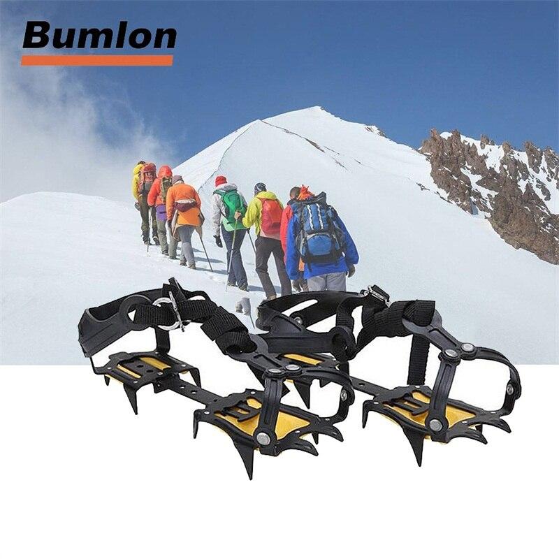 Crampons de neige à pince à glace groupée dispositif de Traction Crampons 10 acier tranchant pour le ski escalade 15-0022