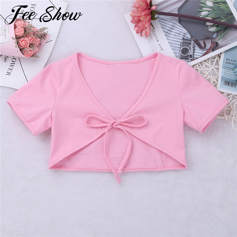 Girls Outerwear Kids Cardigan Wedding Birthday Party Short Sleeves Cotton Bolero Jacket Girls Clothes for 12 months-14Years