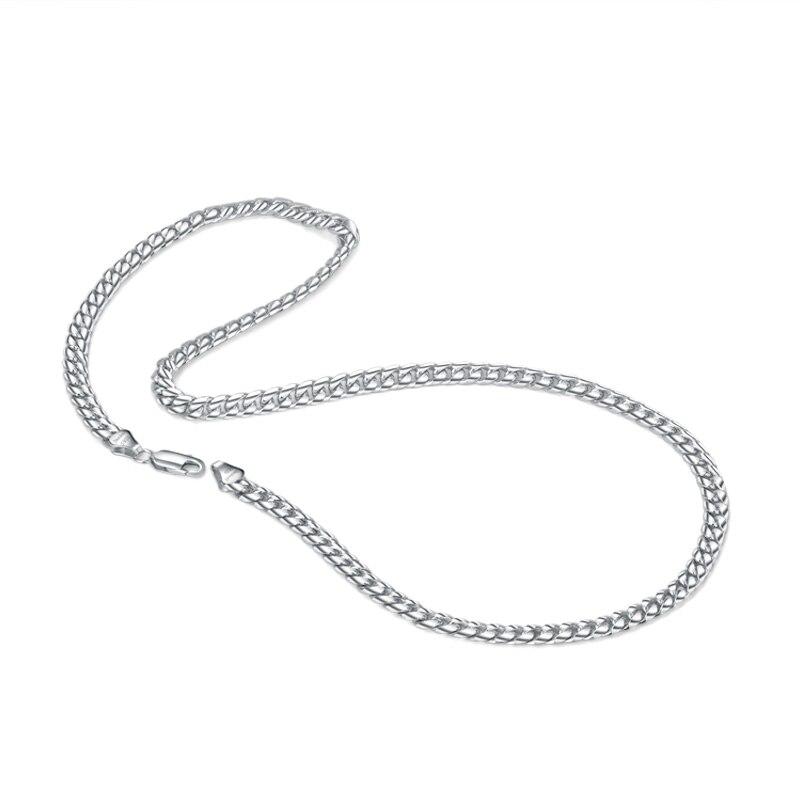 Mode 100% 925 solide en argent sterling Rolo chaîne collier hommes 18-22 pouces populaire chaîne épaisse chaîne cubaine bijoux en argent