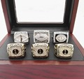 Facyory Direct Sale 6 pcs For 2011/2012/2013/2015/2016 fantasy Football Super Bowl Championship Rings with Wooden Box