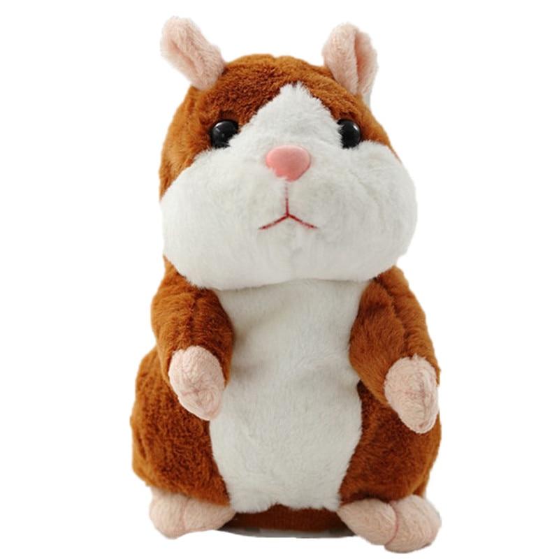 15 cm Reden Hamster Maus Haustier Plüsch Spielzeug Sprechen Lernen Elektrische Rekord Hamster Pädagogisches Kinder Stofftiere Geschenk WJ494