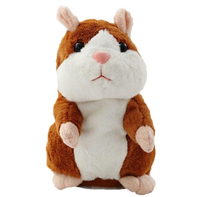 15 cm Talking Hamster ratón mascotas peluche aprender a hablar eléctrica Hamster niños educativos juguetes rellenos regalo WJ494