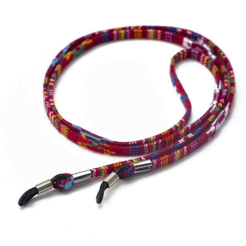 Etnik örgü halat zincir gözlük zincirleri moda okuma gözlükleri güneş gözlüğü bağı kordon tutucu boyun kafa bandı aksesuarları