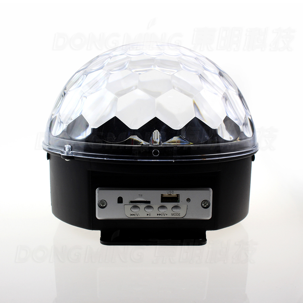 Music Crystal Magic RGB LED Stage Lights For Party Ball Disco light Nightclub with Remote Free Shipping mini rgb led party disco club dj light crystal magic ball effect stage lighting