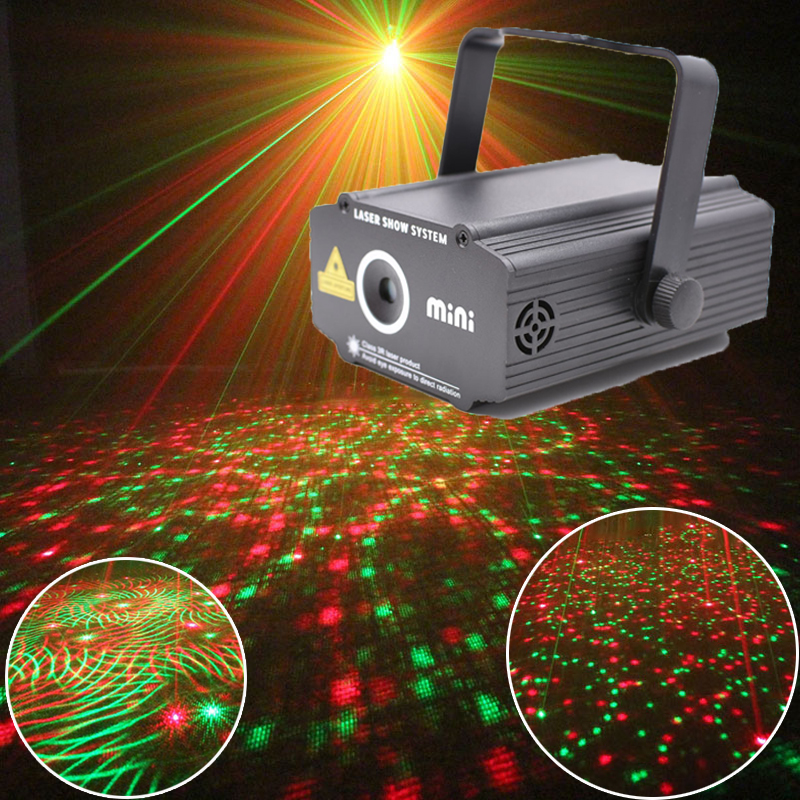 цена на Mini Laser Projector Lumiere Light Music Equipment For Disco Bar Party Machine Lights Show System
