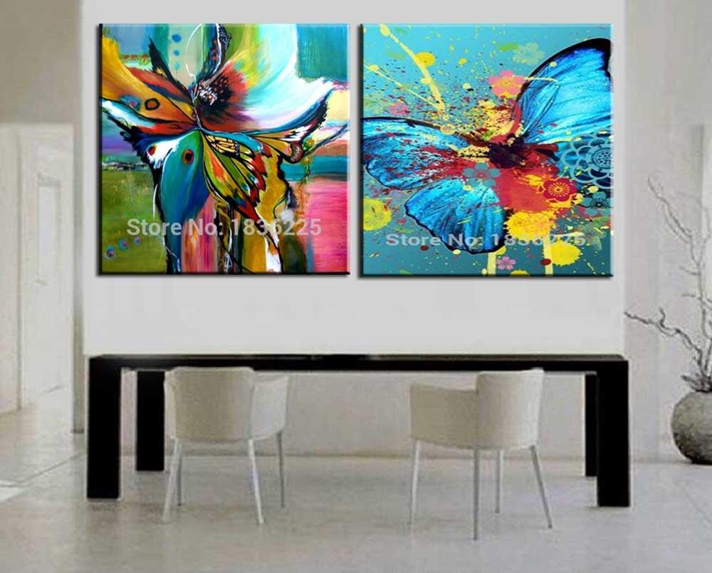 43 44 28 De Réduction Livraison Gratuite Art Pas Cher Abstrait Papillon Mur Peinture Maison Décorative Moderne Image Sur Toile à La Main Paysage