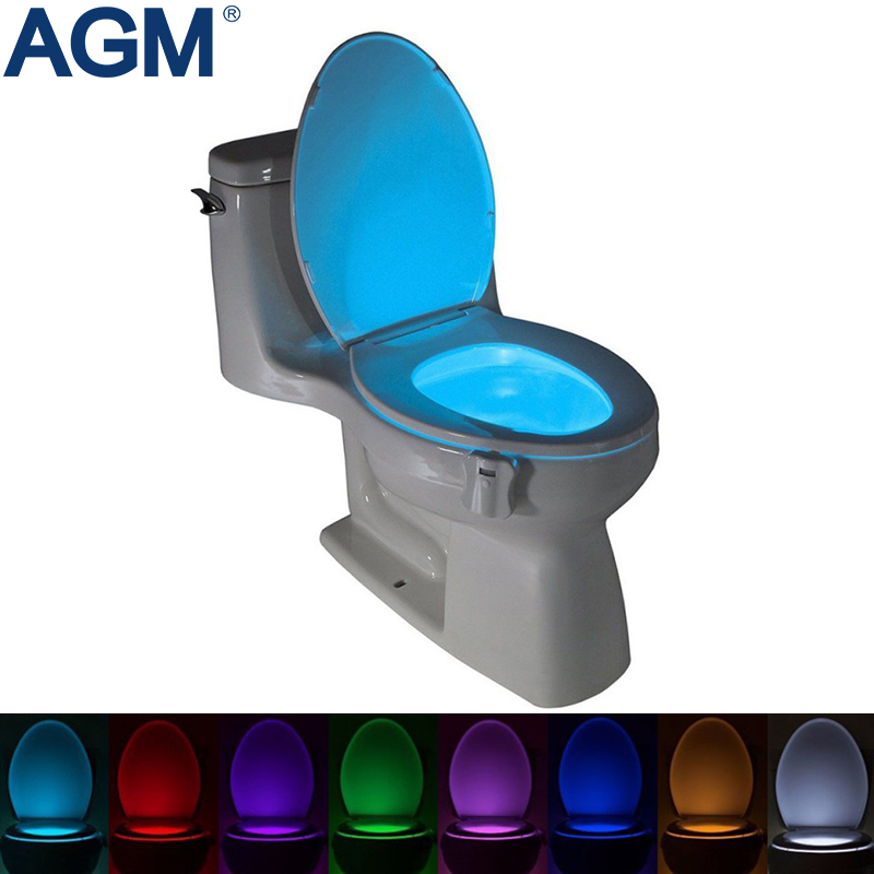 Led Night Lights 24 Colors Toilet Light Body Motion Sensor Seat Lamp Colorful Led Night Light Color Changing Bathroom Night Light Drop Shipping Moderate Price