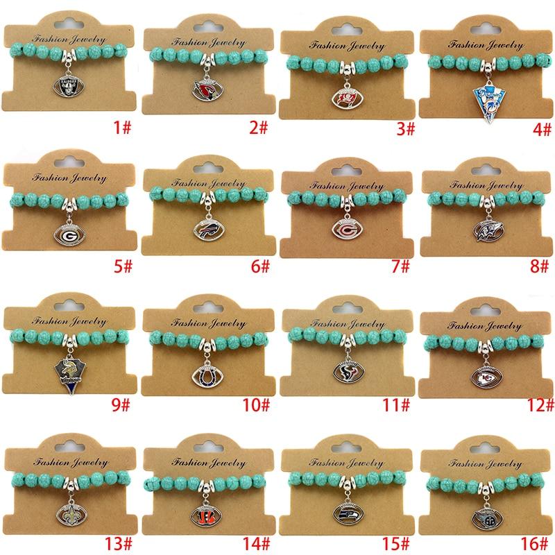 2# ARIZONA CARDINALS simulation Beaded bracelet Adjustable Football Team Jewelry For Women