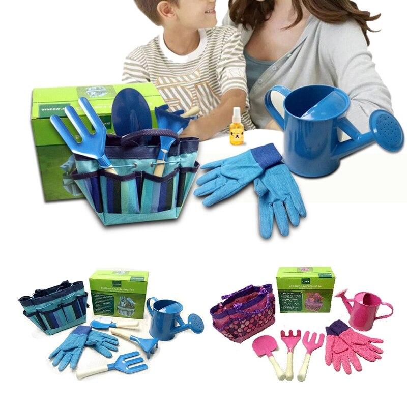 Little Gardener Tool Set With Bag Kids Children Gardening Boys Girls Gift Toys