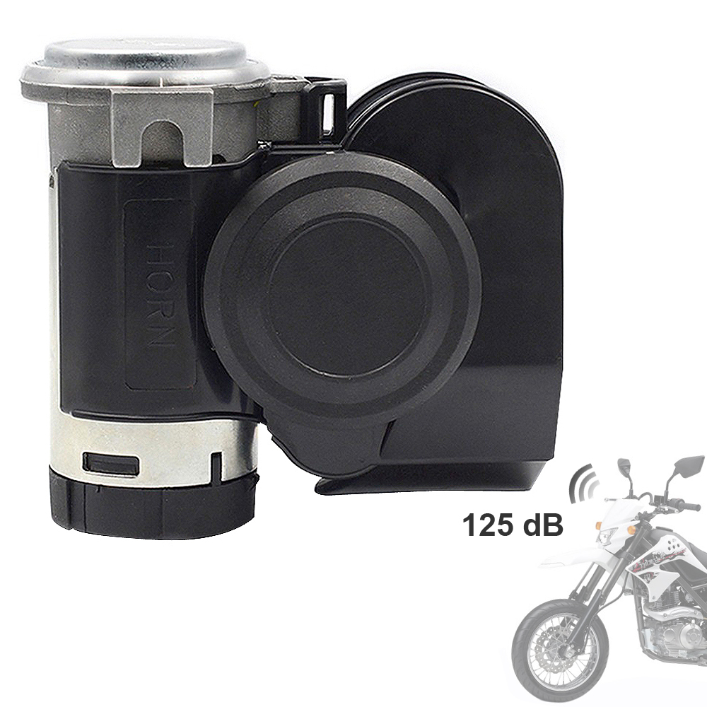 12V Super 139dB Loud Dual Air Horn Snail Compact Horns For Motorcycle Car Truck Vehicle Yacht Boat SUV