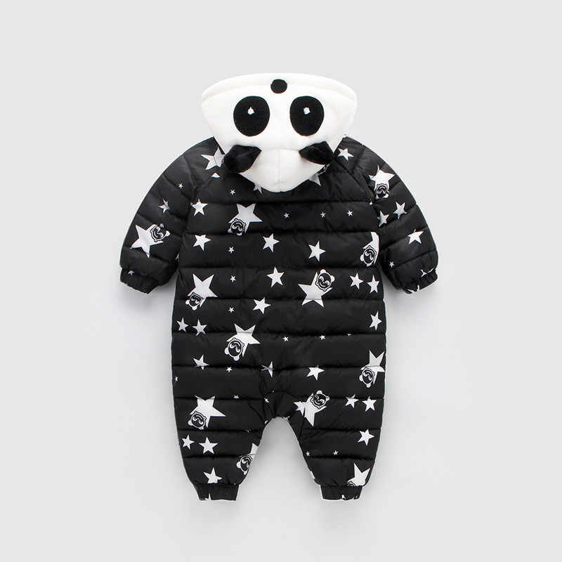 Комбинезон осень-зима для снежной погоды костюм куртка для детей, для новорожденных, младенцев, маленьких животных одежда для малышей хлопковый пуховый комбинезоны с героями мультфильмов 6-9-12-18-24M