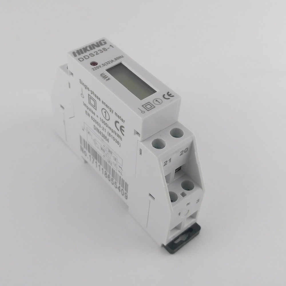 5(32)A 220V 60HZ Single phase Din rail KWH Watt hour din-rail energy meter LCD image