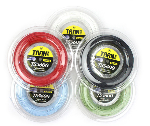 1 Reel TAAN 1.15mm TS5600 Tennis Racket String Fusion Poly Durable Tennis Training Power String 200m new replacement 200m reel racquet tennis string power rough 1 25mm tennis racket string promotion soft nylon tennis racket line