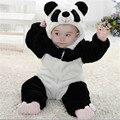 Nueva Llegada Del Bebé Niña panda Con Capucha de la Cremallera de Los Mamelucos Lindos del Bebé Caliente Traje Onesie Panda Escalada Cálido Pijamas Romper Mono