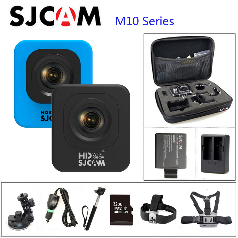 SJCAM M10 Series M10 & M0 WIFI Full HD Mini Action Camera 30M Waterproof Camera 1080P Sport DV Connector Set sjcam m10 series m10
