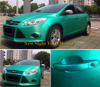 High Quality Tiffany Blue Matte Brushed Chrome Car Vinyl Film Bubble Free For Car Wraps Size:1.52*20M/Roll