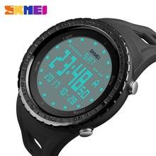 Skmei marca hombres deportes relojes 50 m impermeable reloj militar digital led hombres al aire libre electrónica de pulsera relogio masculino