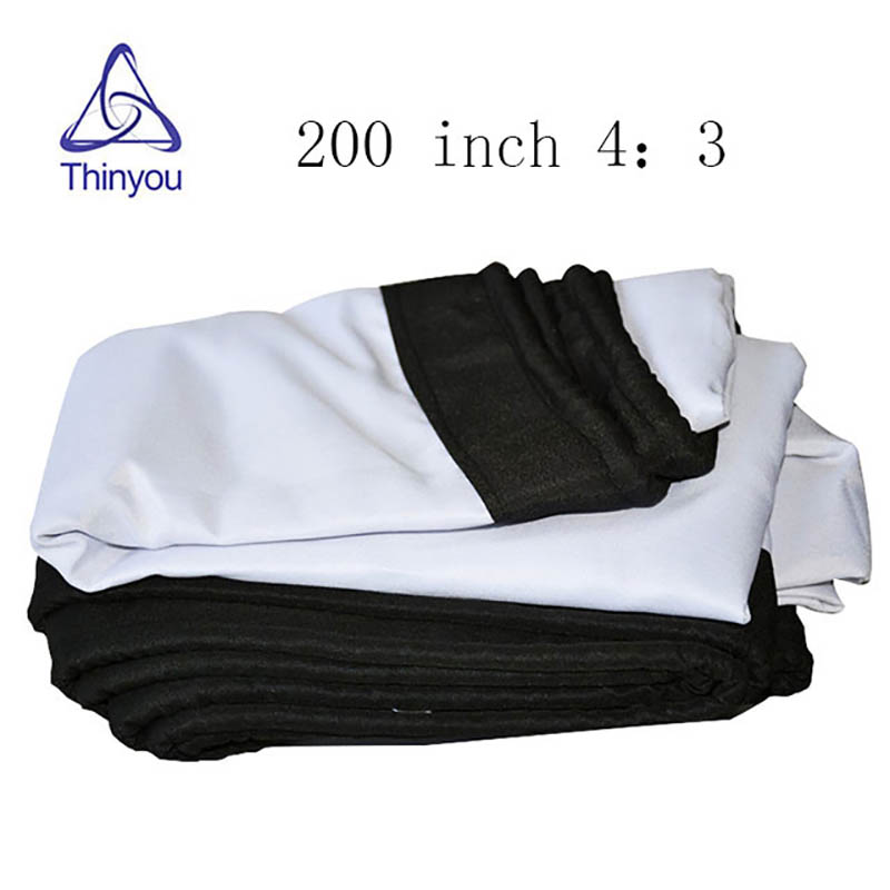 Thinyou 200 inch 4 3 white fiber Portable folding soft curtain portable outdoor font b projector