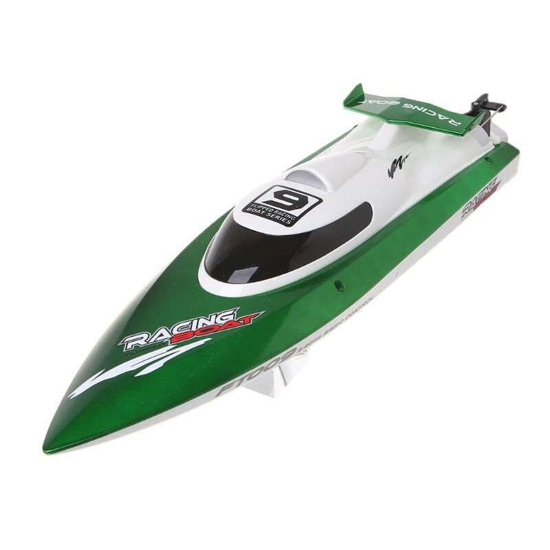De alta velocidad RC Racing barco FT009 2,4G 4CH Radio Control barcos con rectificar la función de enfriamiento de agua y auto  corregir juguete-in Barcos RC from Juguetes y pasatiempos    2