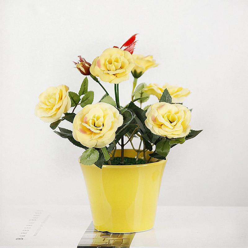 1PC ხელოვნური ყვავილები Bonsai - დღესასწაულები და წვეულება - ფოტო 3