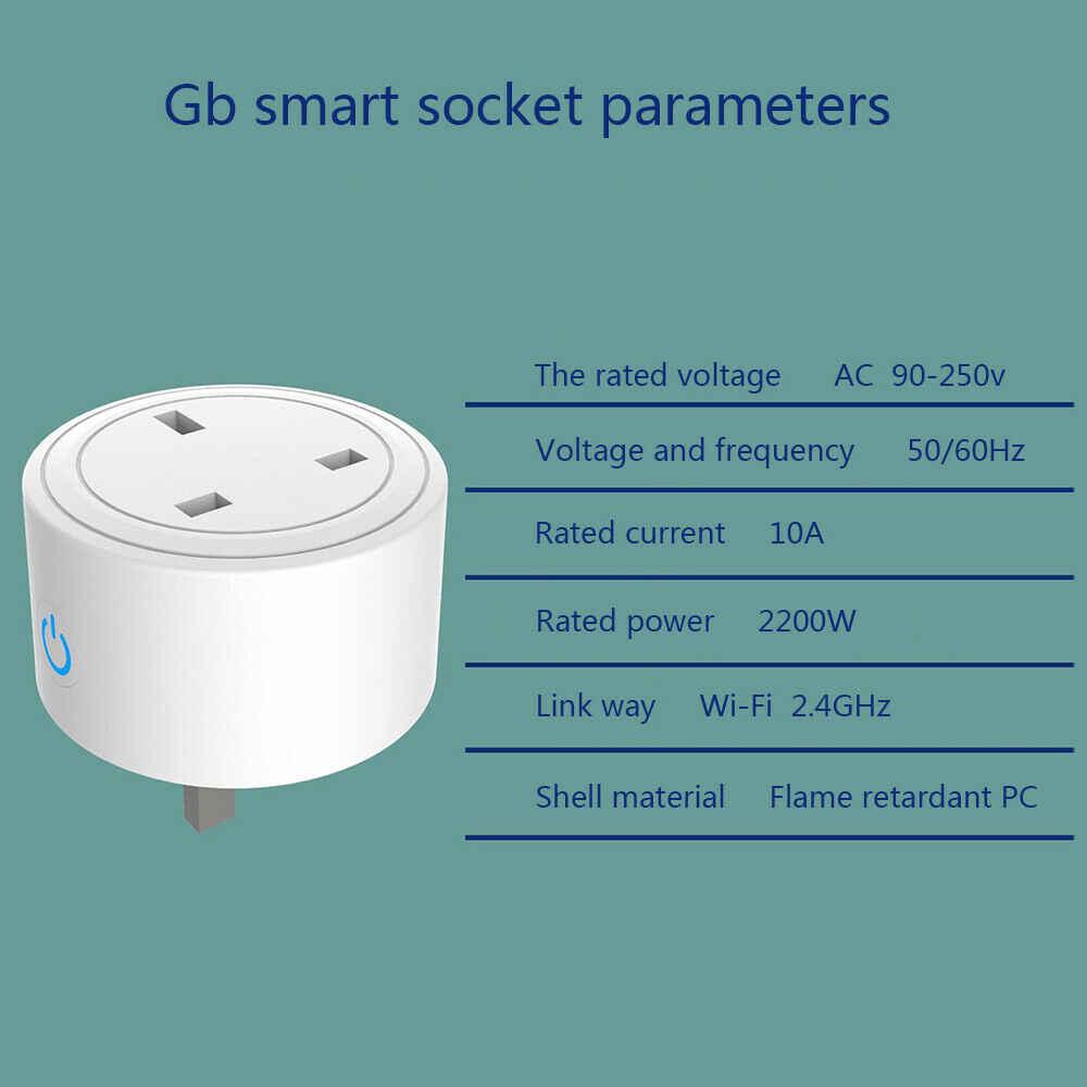 Enchufe inteligente IFTTT para hogar, enchufe inteligente con Wifi, Control remoto por aplicación remota, enchufe para UE, EE. UU., Reino Unido, Alexa y Google Home