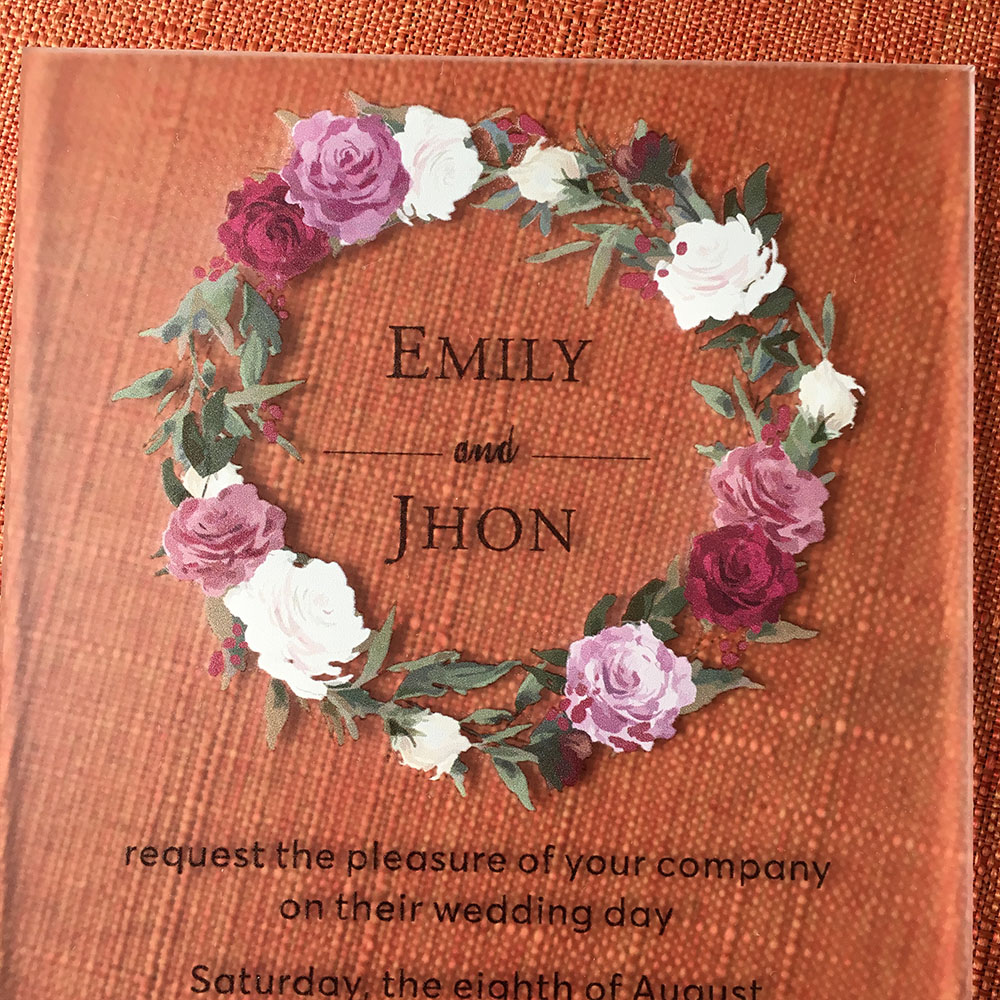 20sets Per Lot Customized Rustic Floral Watercolor Style 5x7inch ...