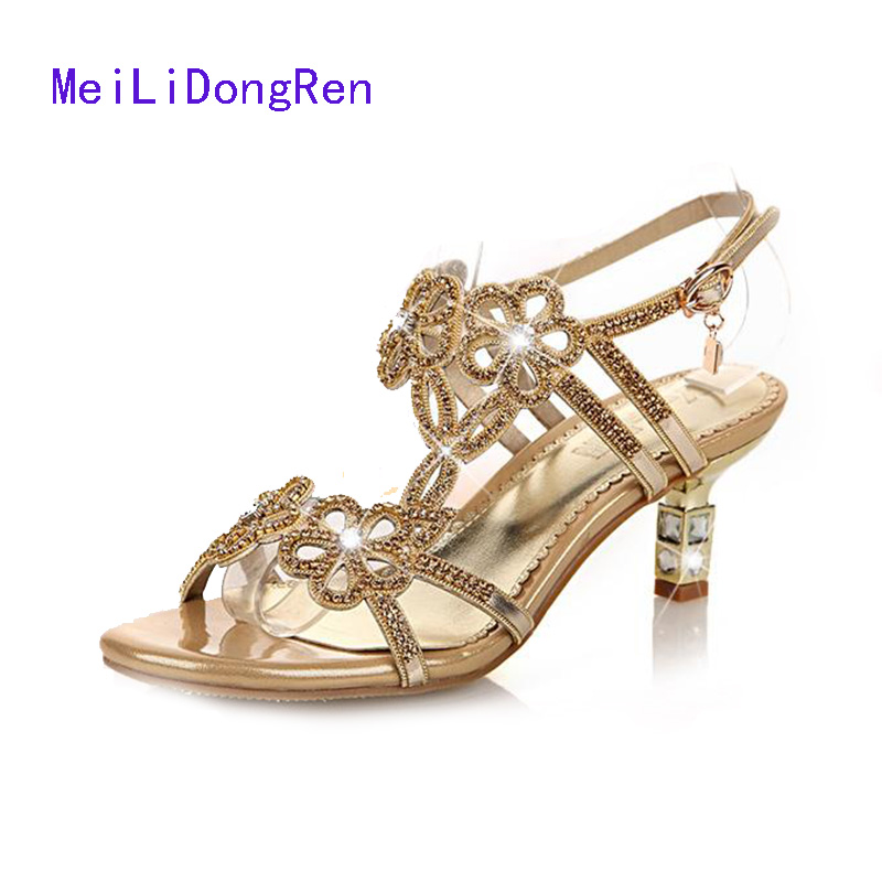 lovexss rhinestone heels sandals 2017 casual wedding genuine leather shoe white plus size 33 43 woman rhinestone heels sandals Women/Female Sandals Rhinestone Hand-made Jewel Open Toe High Heels Shoes Genuine Leather Princess Wedding Shoes Size 34-40