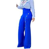 New Printed Harem Pants 2017 Autumn Wide Leg White Pants Women Back Zipper Ladies High Waist