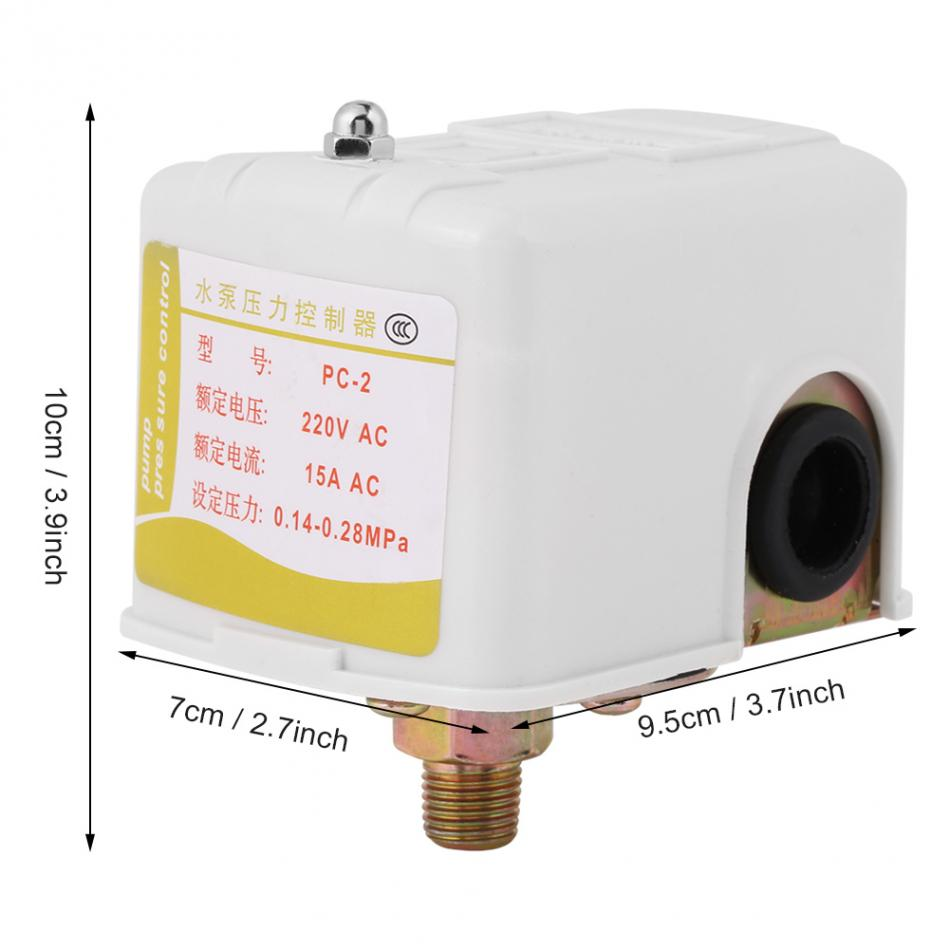 Air Compressor Pressure Switch Control Valve Well Water Pump Parts For Diagram Double Pole Adjustable 220vac In Switches From Lights Lighting On