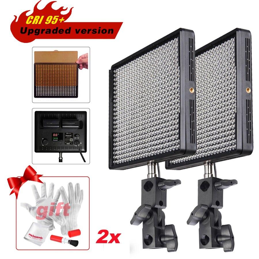 2pcs/lot Aputure Amaran AL-528W Upgraded Version CRI 95+ LED Studio Video Lights Slim Panels Camera Light + Gift Kit P0011931