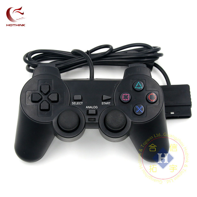 HOTHINK Black Wired Controller 1.8M Double Shock Remote joystick Gamepad Joypad for PlayStation 2 PS2