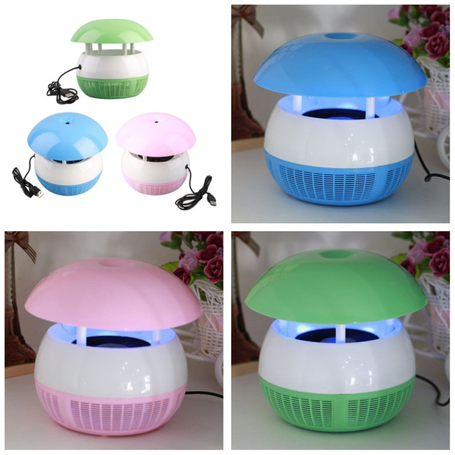 3pcs 2016 Hot Efficient Electric Photocatalyst 6 LED On-off Mosquito Repellent Catcher Trap Lamp Free Shipping US Plug