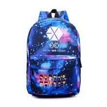 Heißer KPOP EXO GOT7 Guter Junge XOXO Leinwand Rucksack Cartoon rucksäcke Männer Student Teenager Schule laptop Tasche Mädchen Reise Mochila Li46