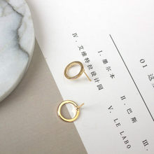 2017 new Korean jewelry fashion simple geometric small circle earrings j metal earrings a woman's gift wholesale(China)