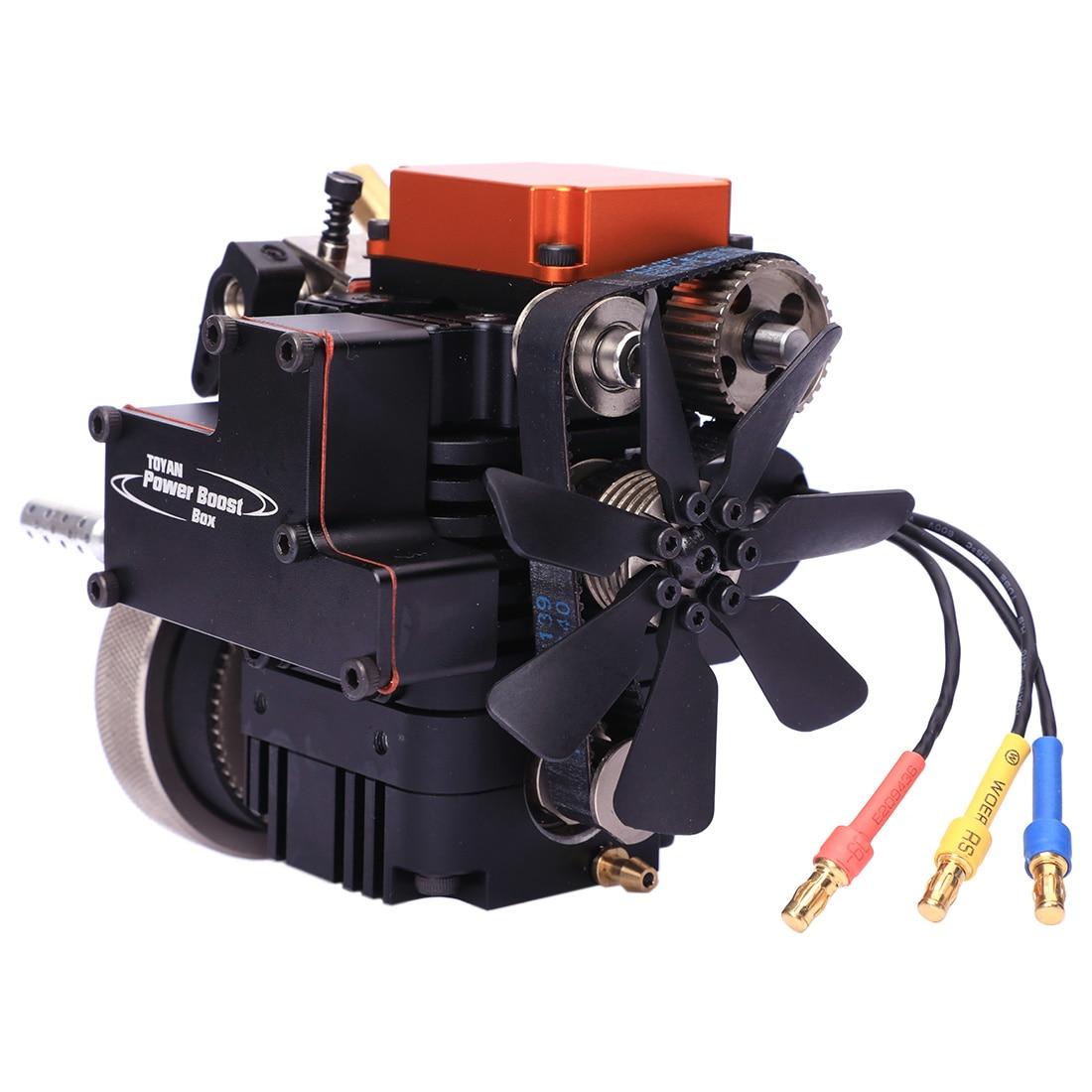 Motor de modelo de metanol de cuatro tiempos Toyan con Motor de arranque para 1:10 1:12 1:14 RC coche barco avión FS S100G-in Kits de construcción de maquetas from Juguetes y pasatiempos    1