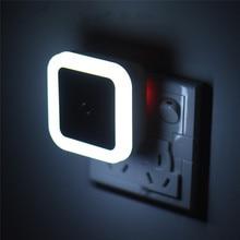 купить EU US Plug Auto Sensor LED Night Light 220V Wall Socket Lamp Nightlight For Bedroom Children  Baby Romantic Color Sleep Light дешево