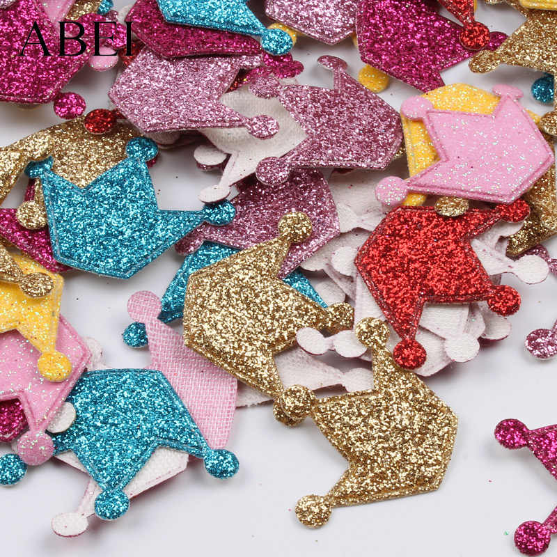 100 шт многоцветные мини-Корона наклейки на блестящий пластырь DIY школьный проект ручной работы Скрапбукинг альбом украшения