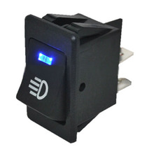 Automobile 12V 35A Blue LED Rocker Switch Car Accessories for Fog Light Lamp Universal