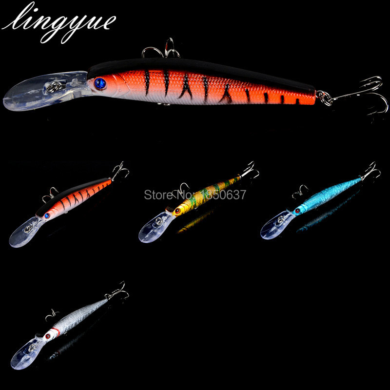 1pcs long minnow fishing lures hard bait treble hooks fishing baits crankbaits fake lure fishing tackle 12.5cm/14g wldslure 1pc 54g minnow sea fishing crankbait bass hard bait tuna lures wobbler trolling lure treble hook