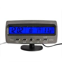 Car Frost Freeze Alert Thermometer Voltage Meter Digital Clock BS88 ETS8