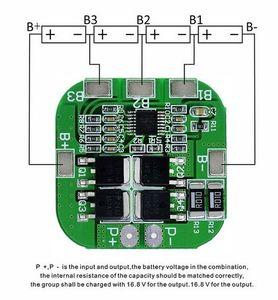 Image 4 - 4S 14.8V / 16.8V 20A peak li ion BMS PCM battery protection board bms pcm for lithium LicoO2 Limn2O4 18650 li battery