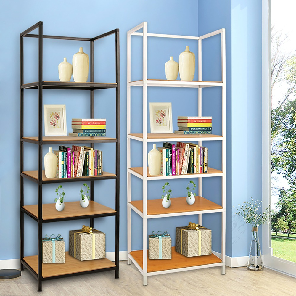 the best attitude 32f57 8c34f US $70.31 44% OFF|5 Layers Multi functional Living Room Storage Shelf  Garage Storage 2 Colors Carbon Floor Bookshelf Steel Heavy Duty Living  Room-in ...