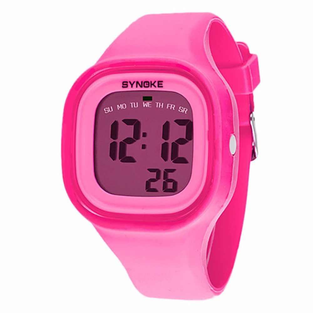 נשים ילדה צבעים בוהקים סיליקון גומי בנד דיגיטלי שעונים LED ספורט Relogio עמיד למים זוהר שעון יד Relojes